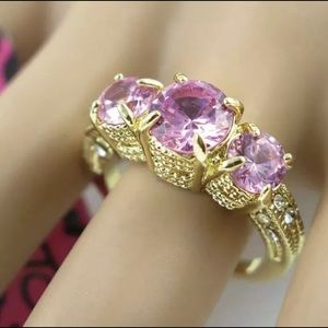 Betsey Johnson Pink Sapphire Ring